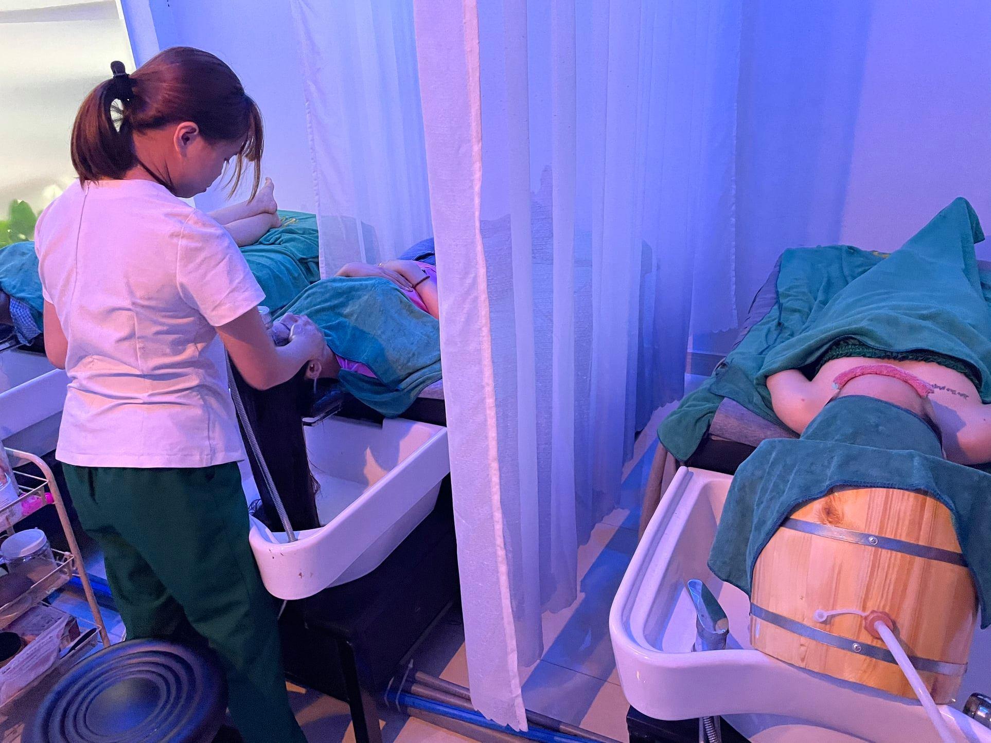Dịch vụ gội đầu dưỡng sinh tại HI