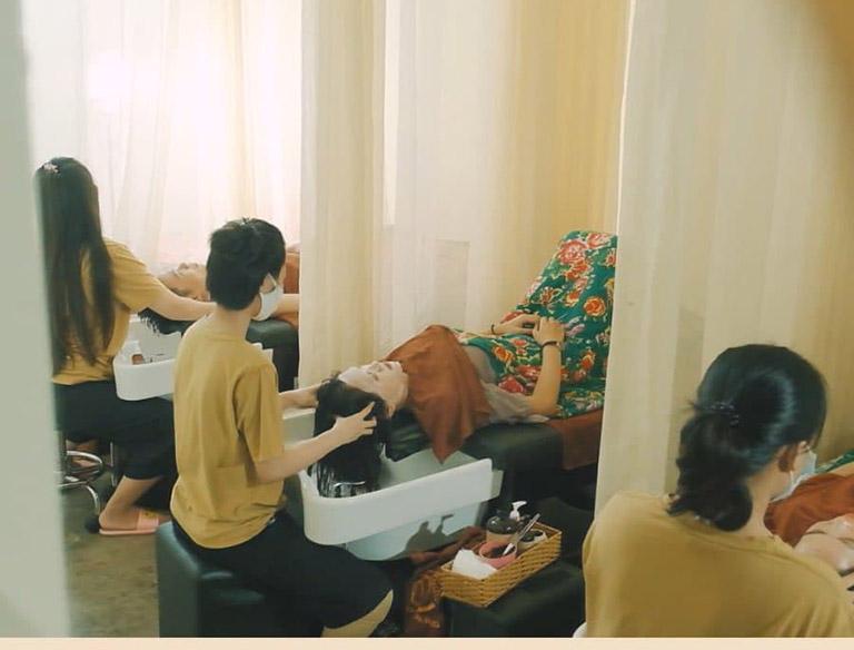 Dịch vụ gội đầu dưỡng sinh tại Lona Home spa mang đến trải nghiệm tuyệt vời