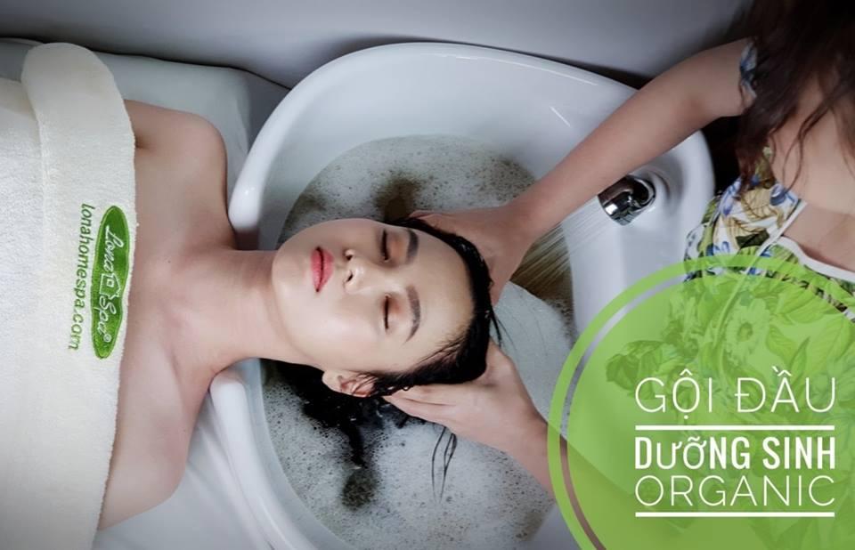 Dịch vụ gội đầu, massage tại Lona Home spa